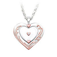 Love Is All Around You Diamond Pendant Necklace