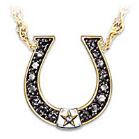 Black Beauty Sapphire & Diamond Necklace