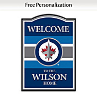 Winnipeg Jets™ Personalized Welcome Sign