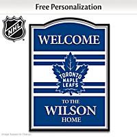 NHL Toronto Maple Leafs® Personalized Welcome Sign