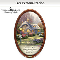 Thomas Kinkade Family Treasures Personalized Collector Plate