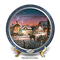 Trimming The Tree: Terry Redlin Masterpiece Collector Plate