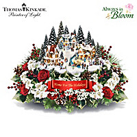 Thomas Kinkade Home For The Holidays Table Centrepiece