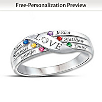 Love Holds Our Family Together Personalized Diamond Ring