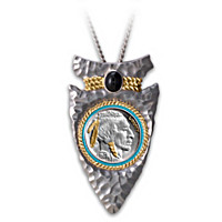Indian Head Nickel Arrowhead Pendant Necklace