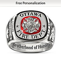 Brotherhood Of Honour Personalized Ring