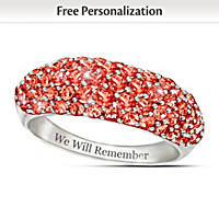 Lest We Forget Personalized Ring
