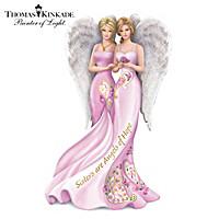 Thomas Kinkade Sisters Are Angels Of Hope Figurine