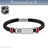 Montreal Canadiens® Personalized Men's Bracelet