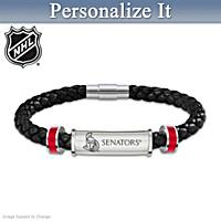 Ottawa Senators® Personalized Men's Bracelet