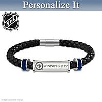 Winnipeg Jets™ Personalized Men's Bracelet
