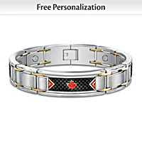 The Spirit Of Canada Personalized Men's Bracelet
