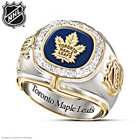 Toronto Maple Leafs® Diamond Ring