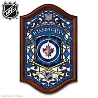 Winnipeg Jets™ Illuminated Stained-Glass Wall Decor