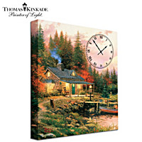 Thomas Kinkade Moments Of Serenity Wall Clock