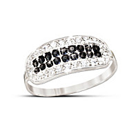 5th Avenue Black & White Diamond Ring