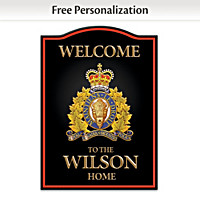 RCMP Personalized Welcome Sign