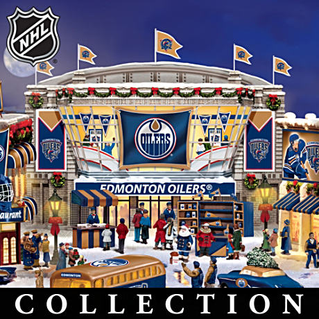Edmonton Oilers® Illuminated Christmas Village