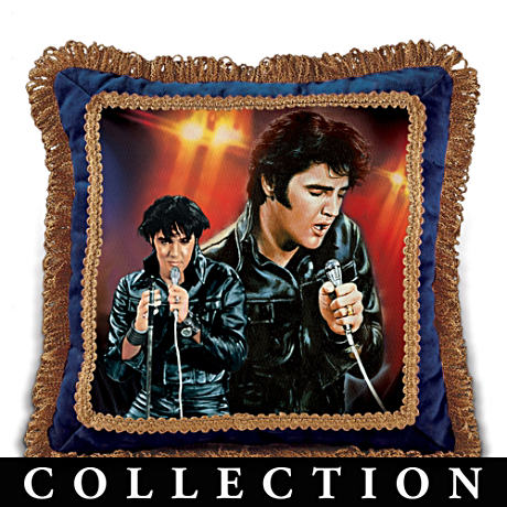 "Elvis Presley ""The Legend"" Decorative Pillow Collection"