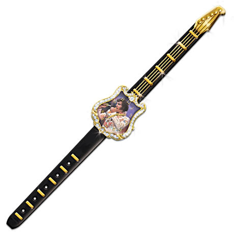 Timeless Legend Swarovski Crystal Elvis Guitar Watch