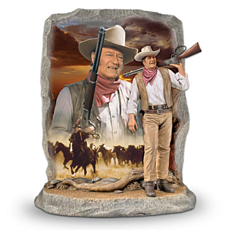 """The Duke"" Double Portrait 2D And 3D Figurine"