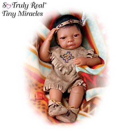 """Baby Bright Cloud"" Native American-Style Lifelike Doll"