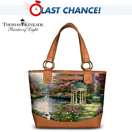 "Thomas Kinkade ""The Garden of Prayer"" Carryall Tote Bag"