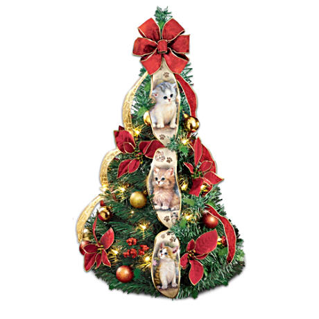 Jürgen Scholz Cat Art 61cm Pre-Lit Instant Pull-Up Tree