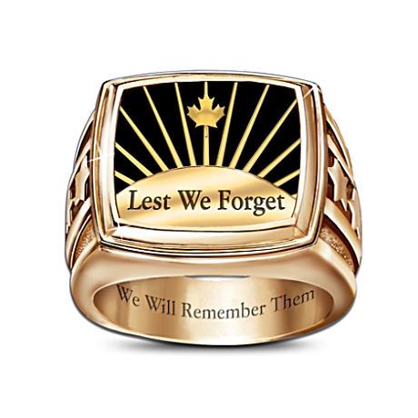 """We Will Remember"" Commemorative Men's Ring"