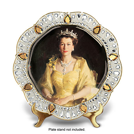 Queen Elizabeth II Diamond Jubilee Porcelain Collector Plate