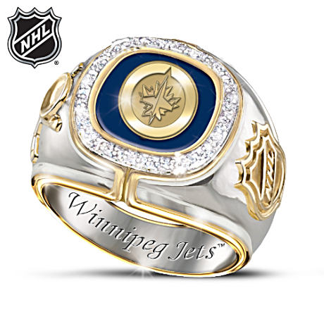 Winnipeg Jets™ Diamond Men's Ring
