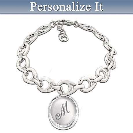 Kate Middleton-Inspired Personalized Initial Bracelet