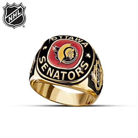 NHL® Ottawa Senators® 24K Gold-Plated Men's Ring