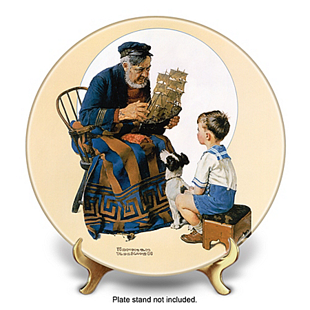 2013 Norman Rockwell Annual Plate: Sea Captain And Boy