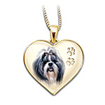 Shih Tzu Engraved Pendant Necklace