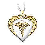 Nurses Serenity Prayer Diamond Pendant