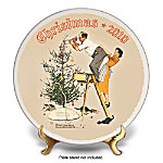 Norman Rockwell's 2010 Christmas Collector Plate: Trimming The Tree
