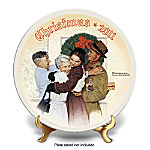 Home For Christmas Norman Rockwell 2011 Christmas Collector Plate