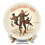 Collector Plate: Norman Rockwell On Thin Ice 2013 Annual Collector Plate