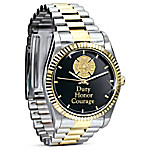 Stainless Steel Firemen Watch Gift For Firefighters