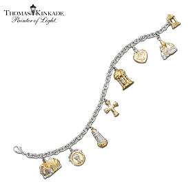 Thomas Kinkade Faith And Family Charm Bracelet