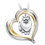 Loyal Companion Dog Lover Pomeranian Pendant Necklace Gift Idea
