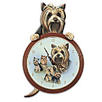 Tail-Waggin' Time Yorkie Dog Animated Wall Clock Gift