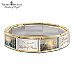 Thomas Kinkade Hope Lights The Way Italian Charm Bracelet With Swarovski� Crystals