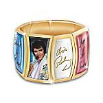 Elvis Presley Heartbreaker Flex 24K Gold-Plated Charm Bracelet