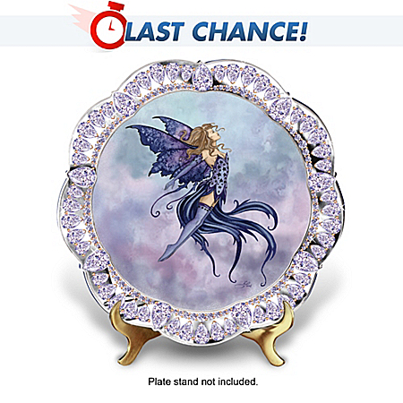 Amy Brown Night Fairy Fantasy Art Collector Plate: Imagine