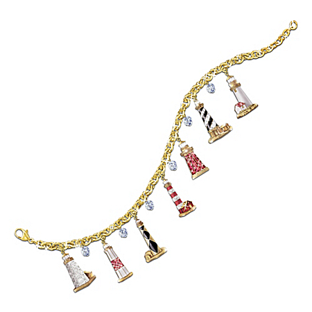 Guiding Lights Lighthouse Charm Bracelet