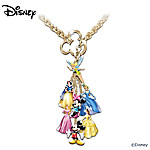 Ultimate Disney Classic 7 Charm Necklace: Unique Collectible Disney Jewelry Gift