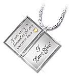 Dear Granddaughter Letter Of Love Sterling Silver Locket Necklace Gift For Granddaughter