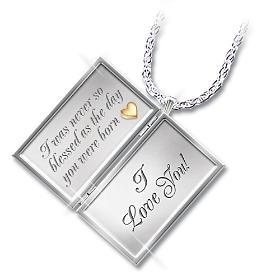 Dear Granddaughter Letter Of Love Pendant Necklace